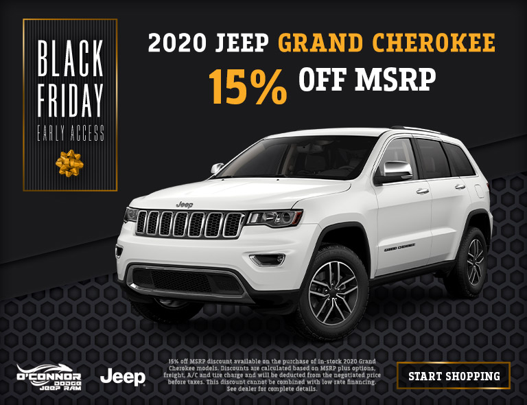 15% Off 2020 Jeep Grand Cherokee at O'Connor CDJR in Chilliwack, BC