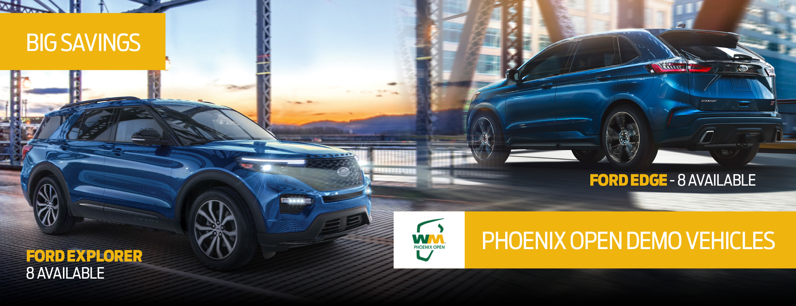 Savings on Ford Explorer and Ford Edge