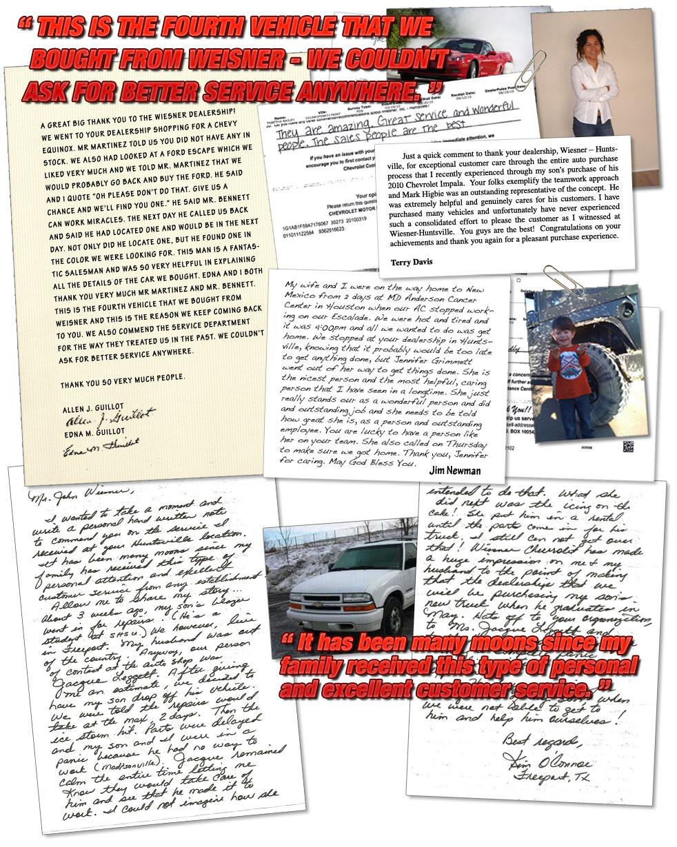 Customer Testimonials - Wiesner Huntsville - Huntsville, TX