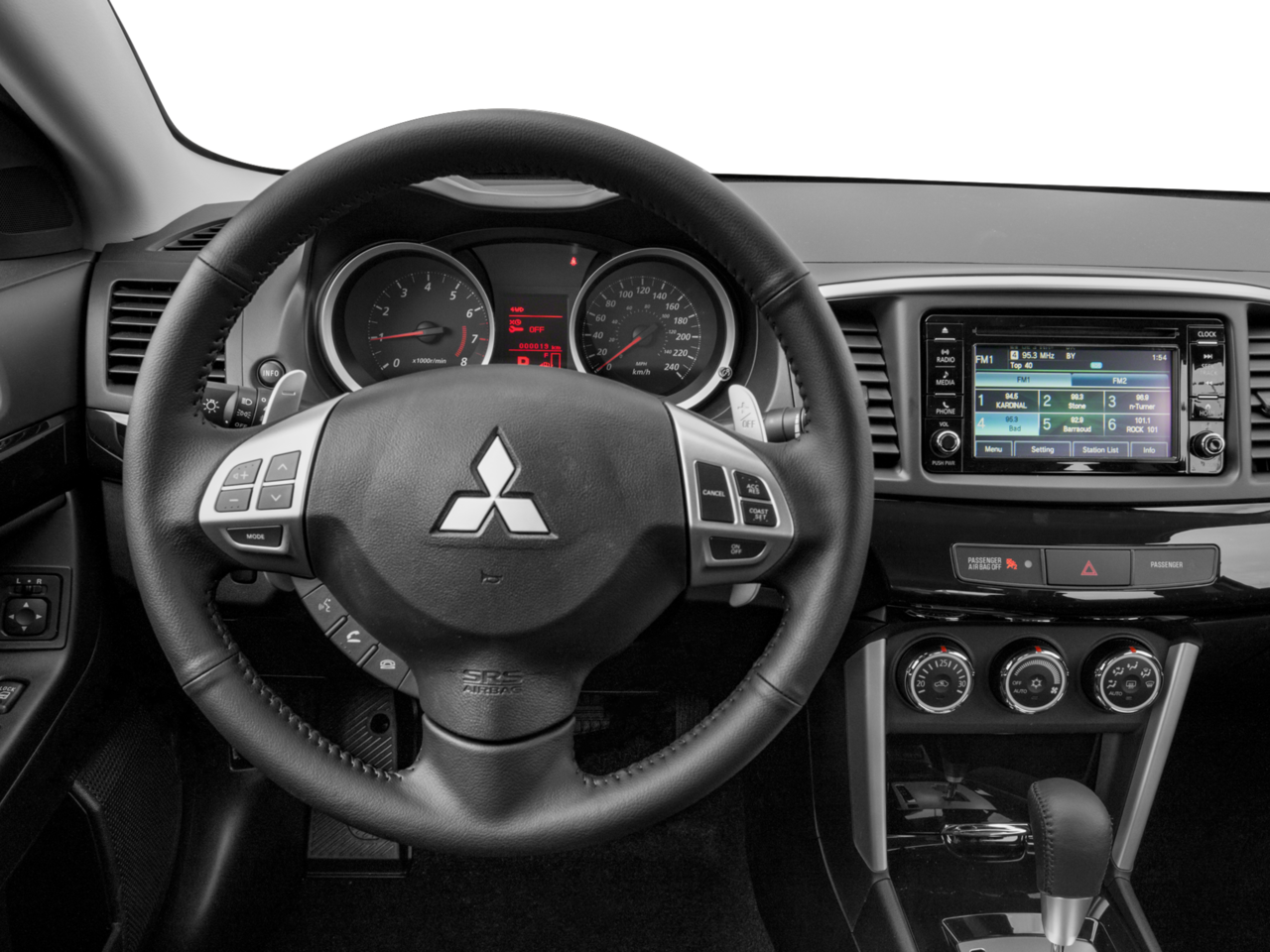 2017 Mitsubishi Lancer Interior   Dashboard And Steering Wheel