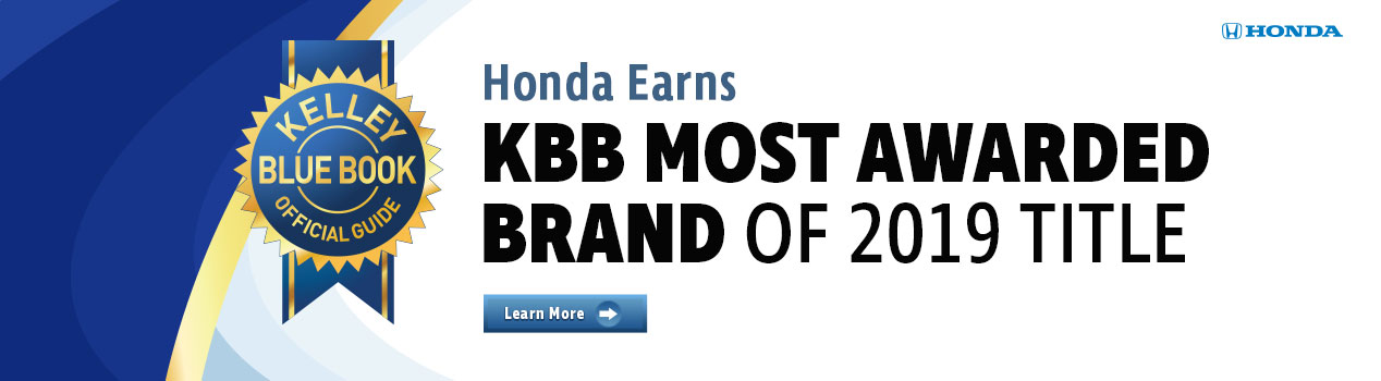Honda Earns KBB Most Awarded Brand of 2019 Title | Vallejo, CA