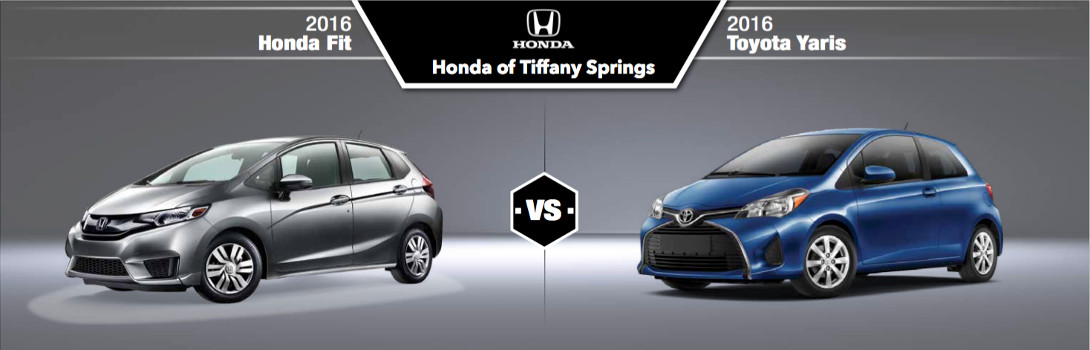 2016 Honda Fit Vs Toyota Yaris In Kansas City Mo