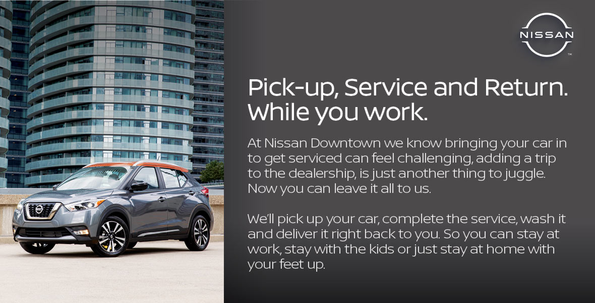Pick-up, Service and Return. While You Work.