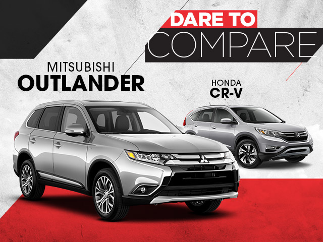 Compare Mitsubishi Outlander to Honda CR-V