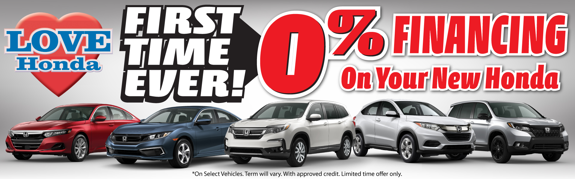 0% On Your New Honda