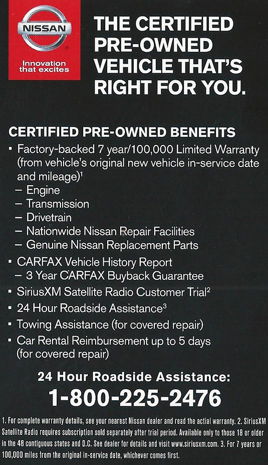 Nissan Certified Pre Owned >> Nissan Certified Pre Owned Program Pischke Motors Nissan La