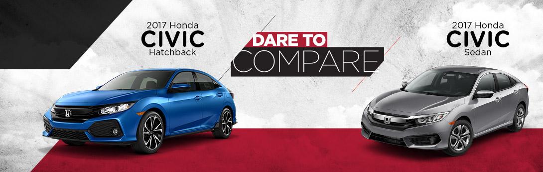 Dare To Compare The 2017 Honda Civic Sedan Vs Hatchback