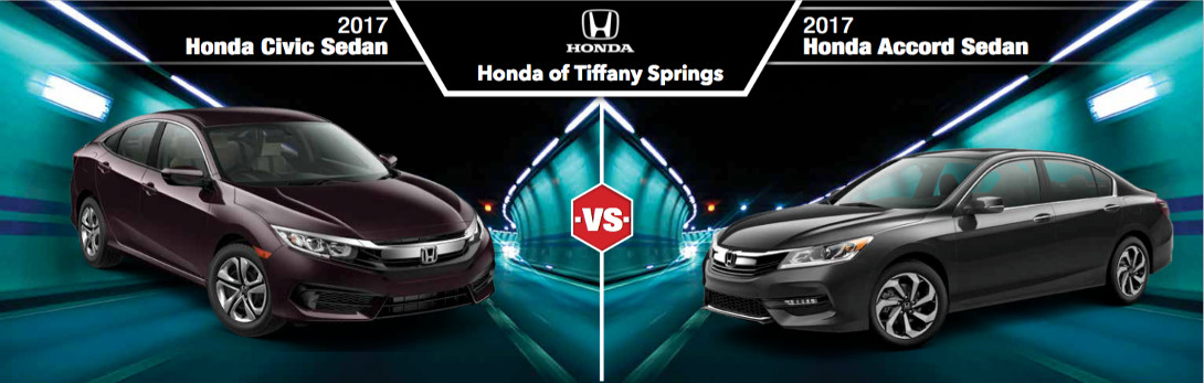2017 honda civic vs accord in kansas city mo honda of for Honda accord vs honda civic
