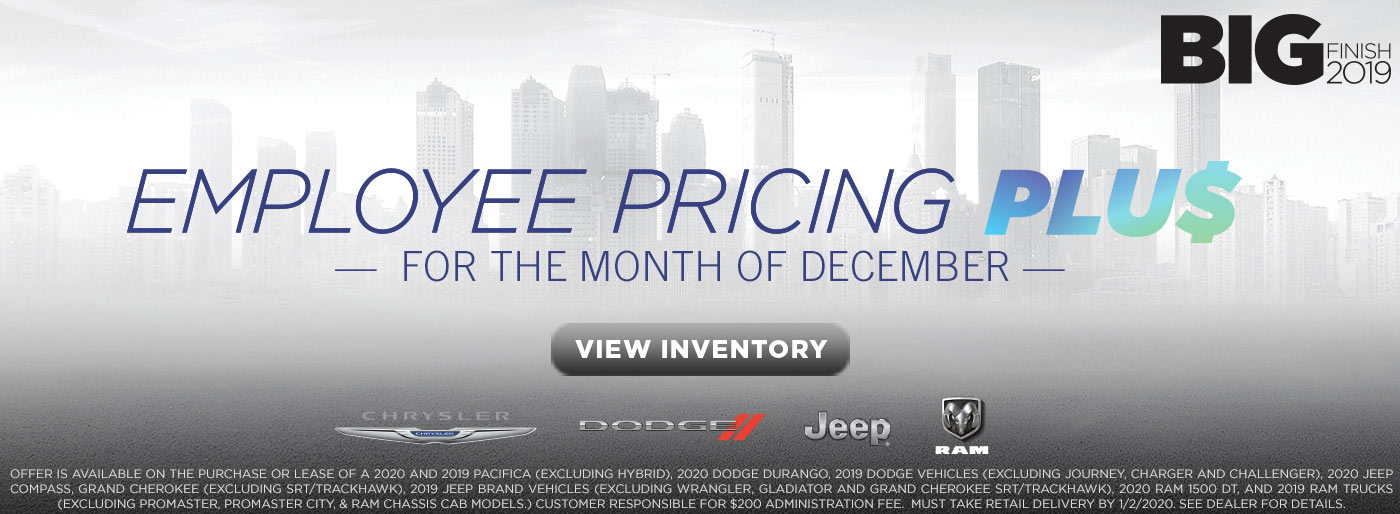 Employee Pricing Plus - Chrylser, Dodge, Jeep, Ram