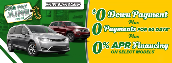 No Pay June Event - $0 Down Payment, 0% APR Financing, 0 Payments for 90 days