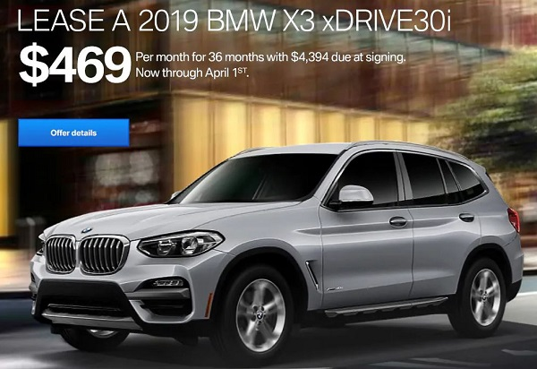 Lease The 2019 BMW X3