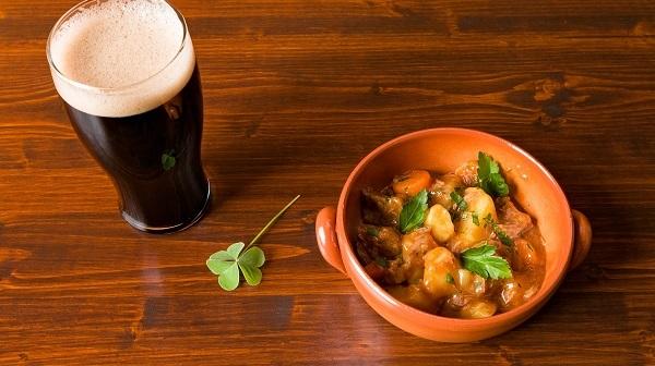 irish beef stew beer four leaf clover
