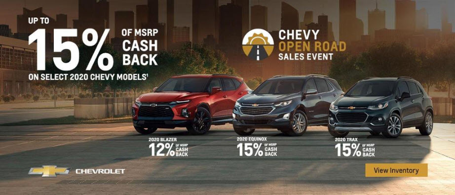 Up to 15% of MSRP Cash Back on Select Models