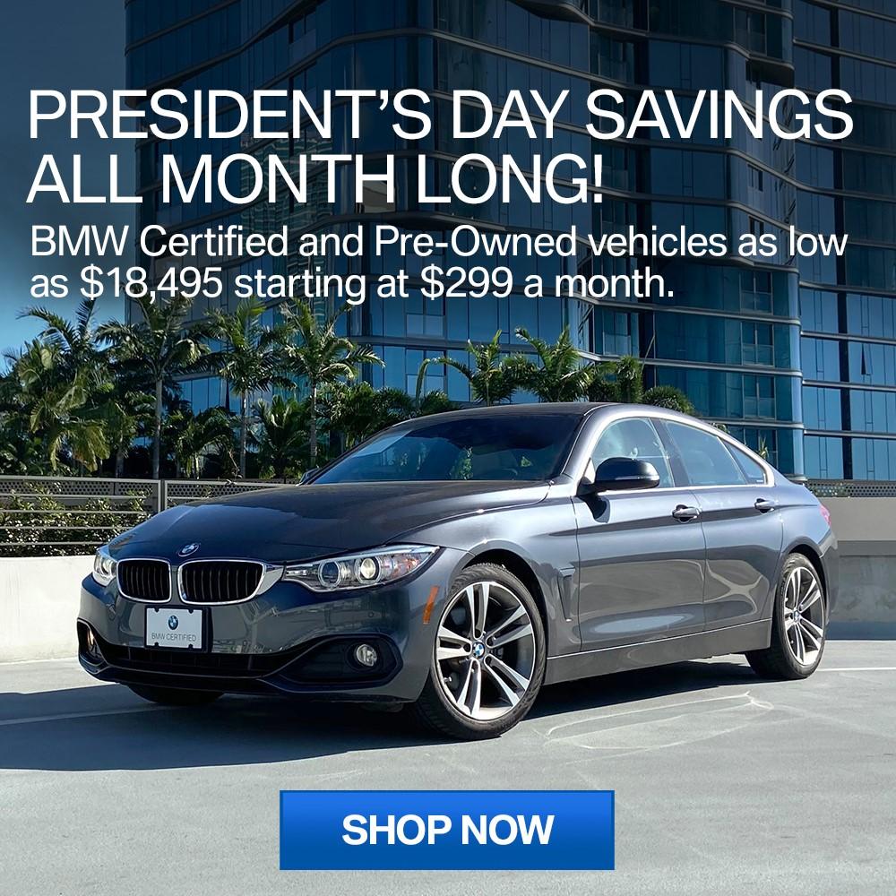 President's Day Certified Savings