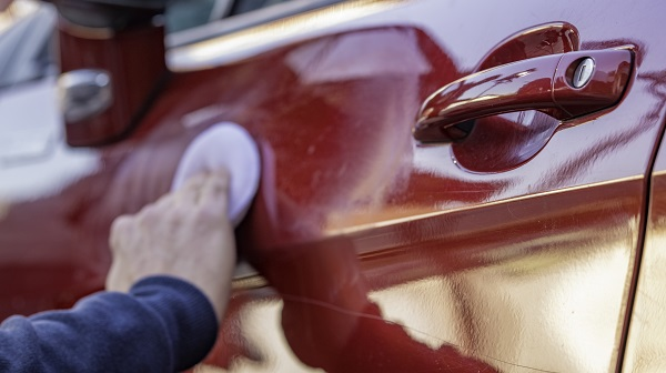 buffing and waxing car exterior
