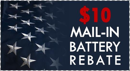 Battery Mail-In Rebate