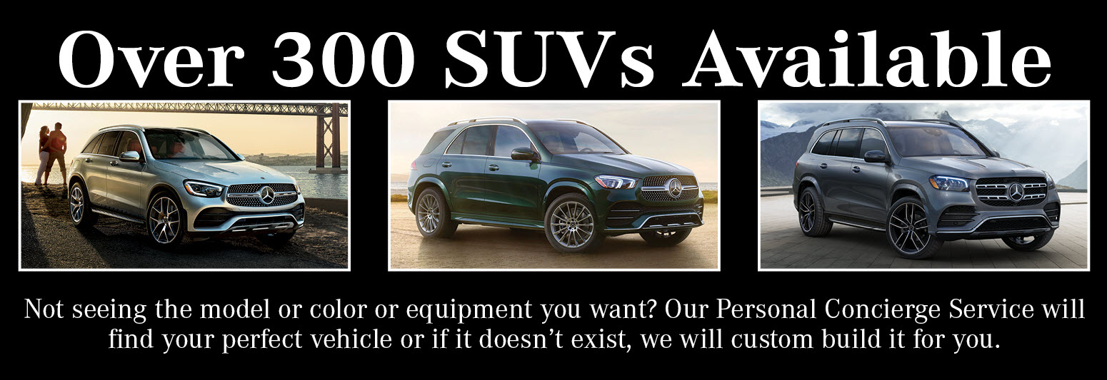 Over 300 SUVs Available