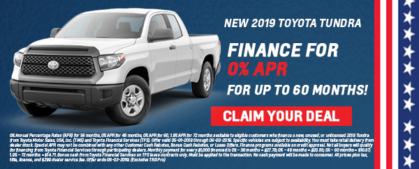 Andrew memorial day deal tundra