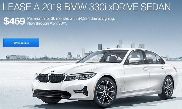 Lease The 2019 BMW 330i xDrive