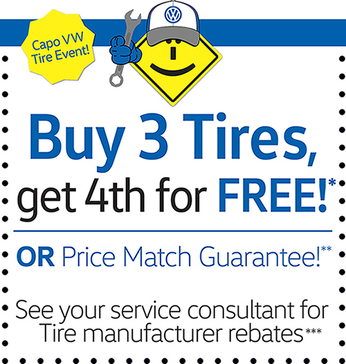 Buy 3 Tires, get 4th for FREE*