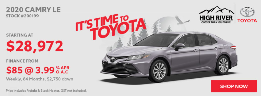 2020 Camry LE starting at $28,972