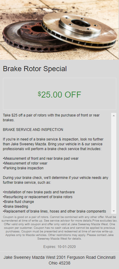 Brake Rotor Special
