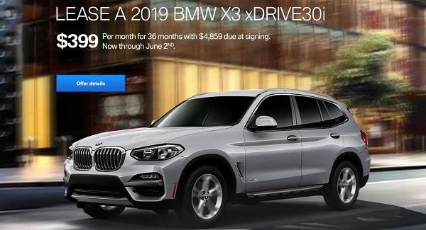 Lease The 2019 BMW X3 xDrive30i