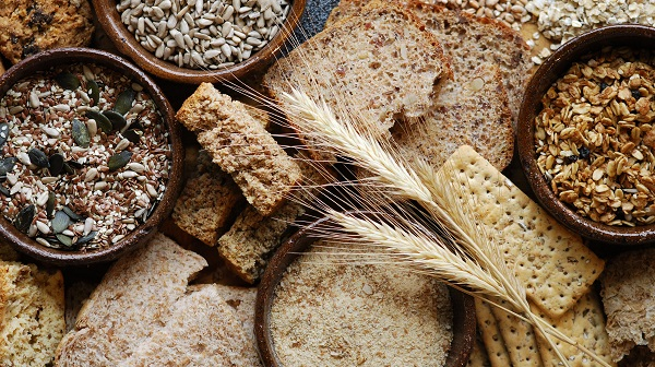 collection of bread and grains
