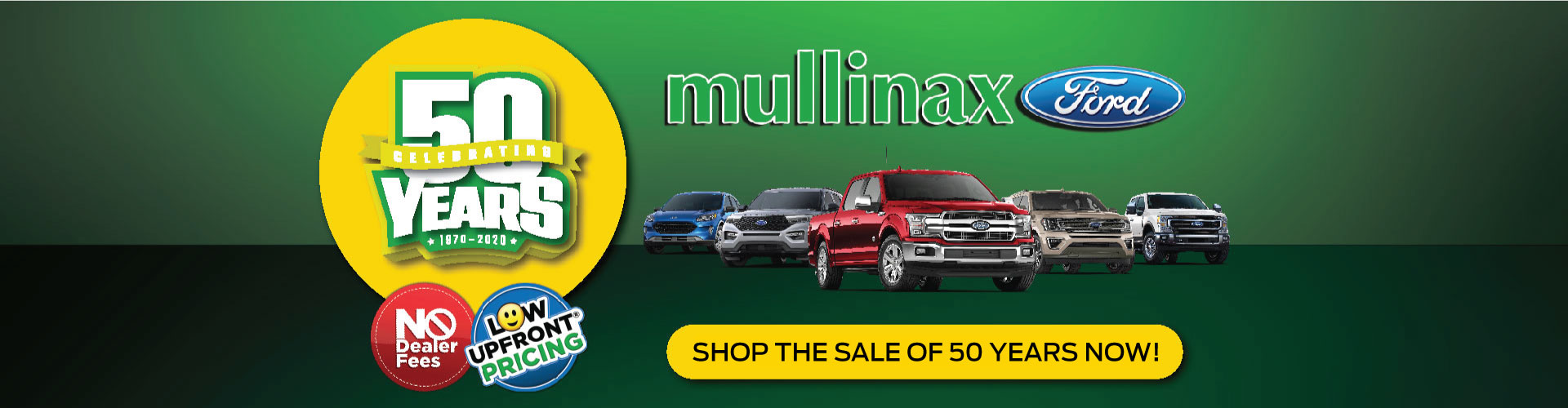 Shop Mullinax Sale of 50 Years