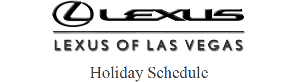 Lexus Of Las Vegas Holiday Schedule