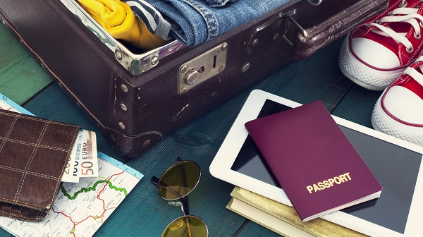 Suitcase Travel Documents