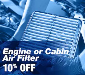Engine + Cabin Air Filter Offer