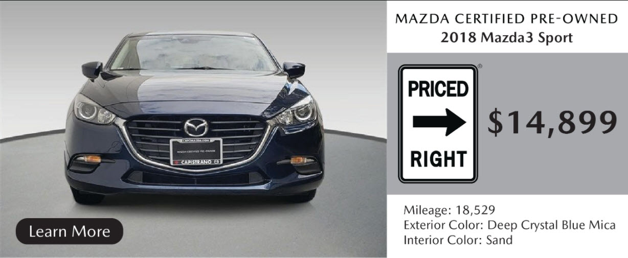 MAKE YOUR NEXT CAR A MAZDA CERTIFIED PRE-OWNED CAR