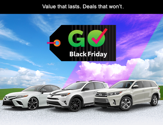 Click here and view the Andrew Toyota Black Friday New Car Deal in Milwaukee, Wisconsin.