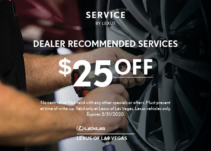 $25 OFF Dealer Recommended Services