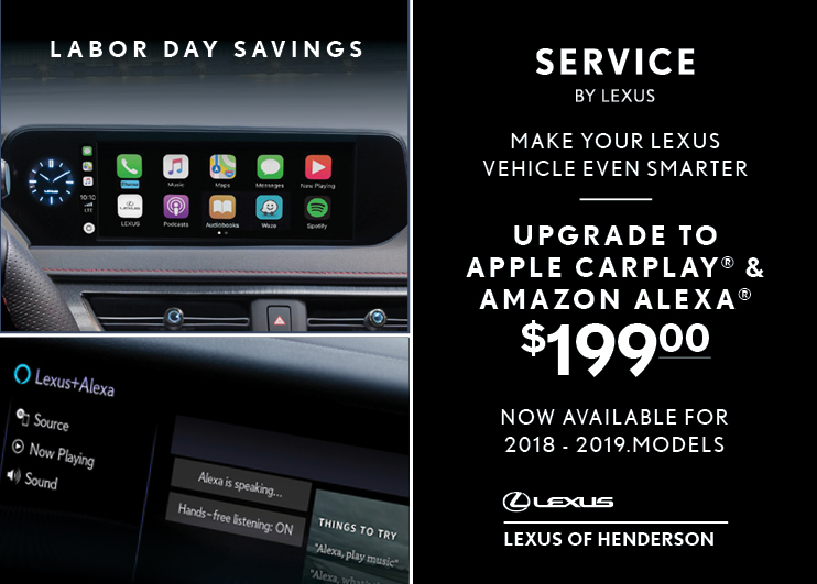 Upgrade to Apple CarPlay & Amazon Alexa