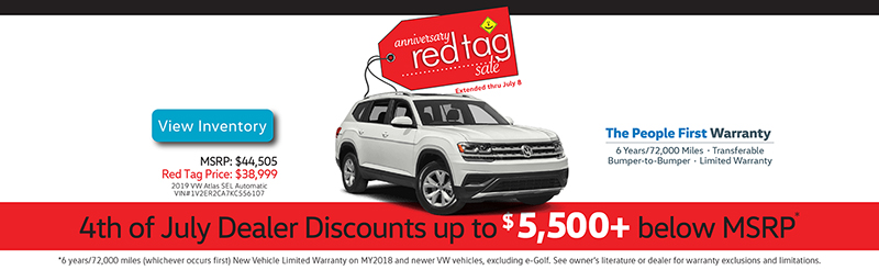 Capo VW 4th of July discounts up to $5,500+ below MSRP