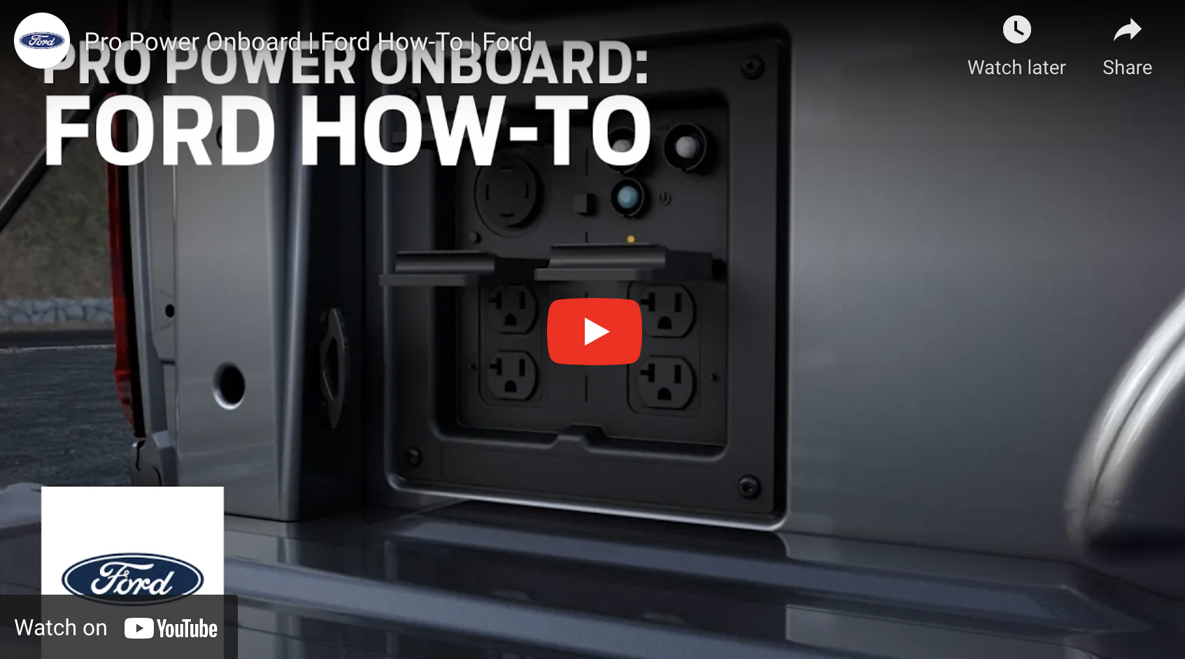 pro power onboard how to video click to watch