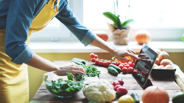 Woman Cooking Veggies