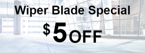 $5 OFF Wiper Blade Special