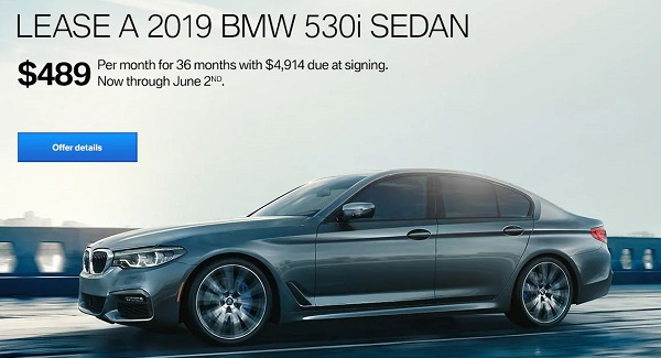 Lease The 2019 BMW 530i