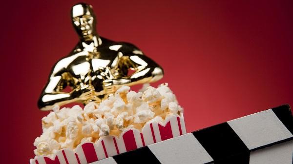award statue with popcorn