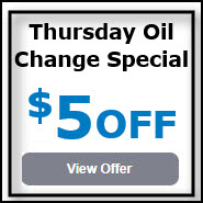 Coupon - Thursday Oil Change Special