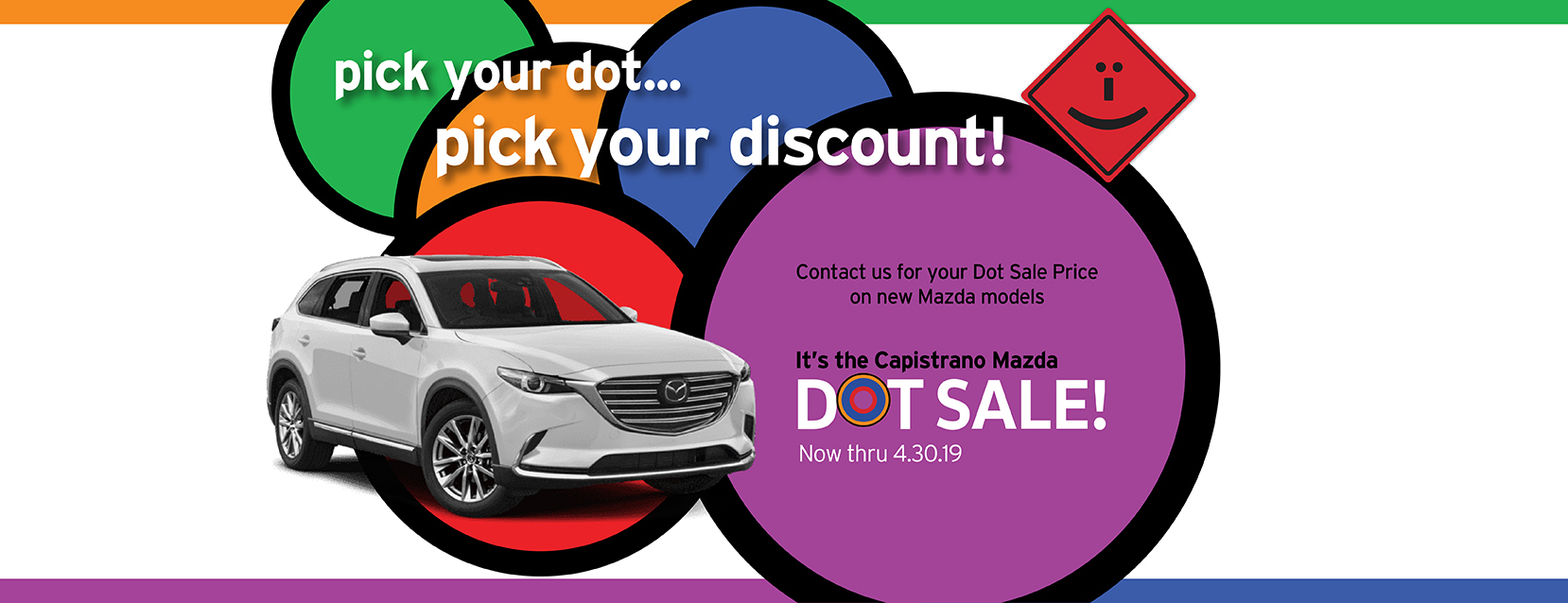 Contact us for your Capistrano Mazda Dot Sale discount!