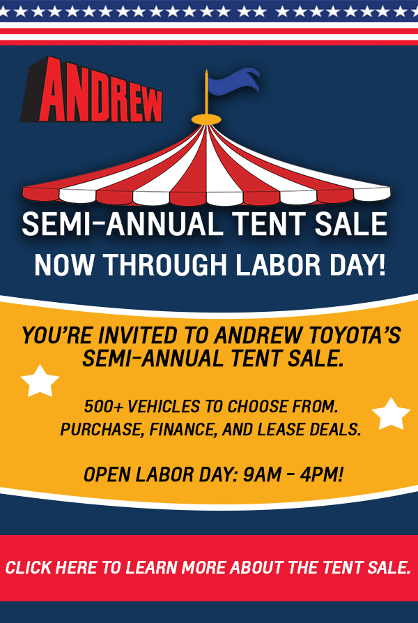 andrew semi-annual tent sale