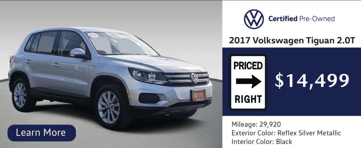 MAKE YOUR NEXT CAR A VOLKSWAGEN CERTIFIED PRE-OWNED CAR