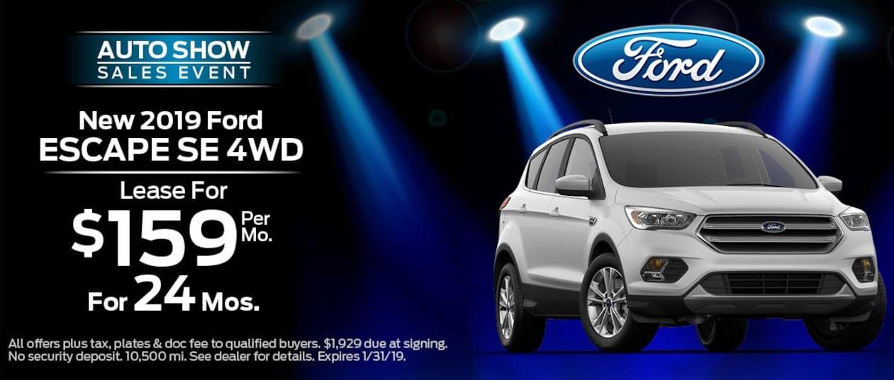 New 2019 Ford Escape SE FWD