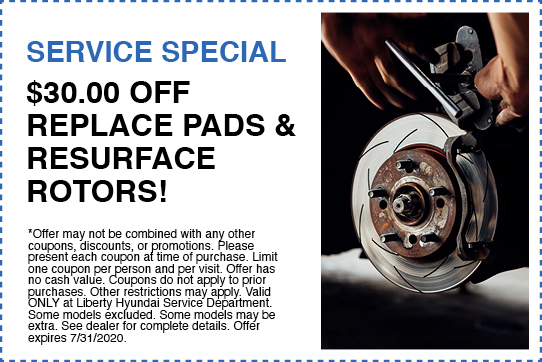 $30 OFF Replace Pads & Resurface Rotors
