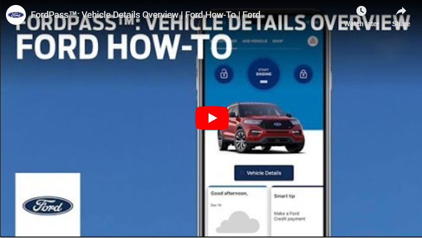 FordPass Vehicle Details- How To