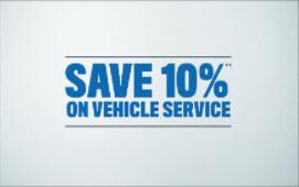10% on Vehicle Service